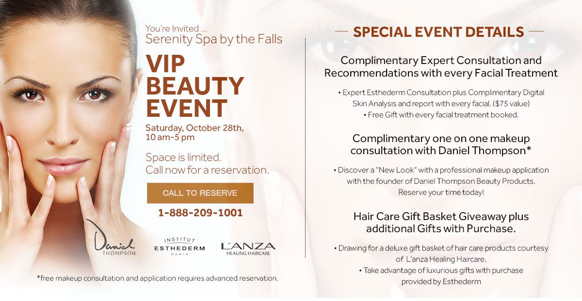 Upcoming Spa Event